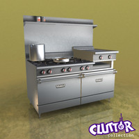 commercial range oven 3d 3ds