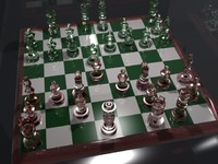 3ds max chessboard glass chess