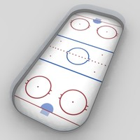 hockey field 3d model