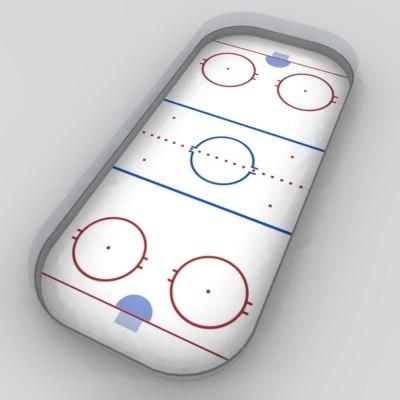 hockey field 3d model