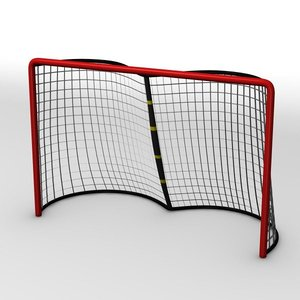 goal ice hockey 3d model