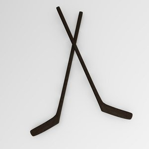 hockey stick 3d model