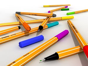3ds max stabilo ink pens