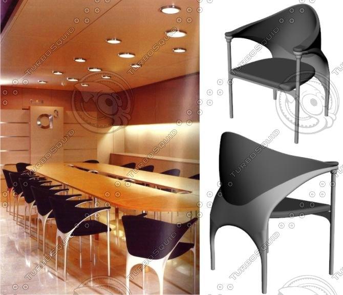 chair design organic 3ds
