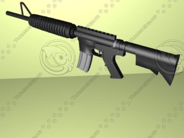 3d assualt rifle m4