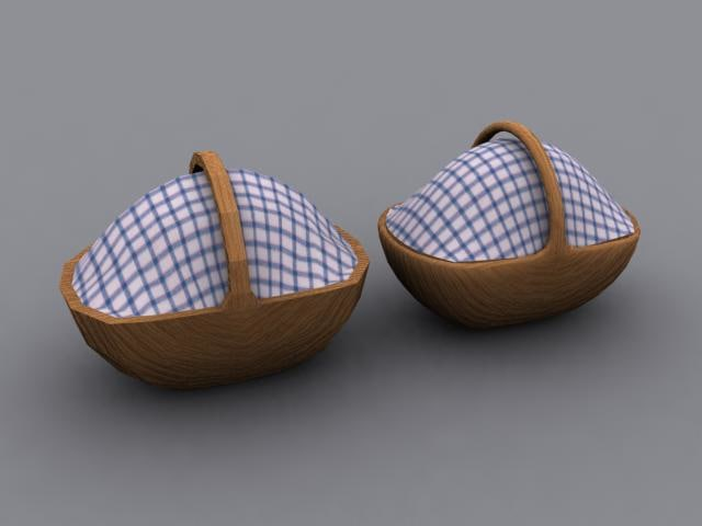 picknick basket 3d model