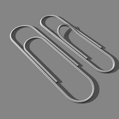 3d paper paperclip model