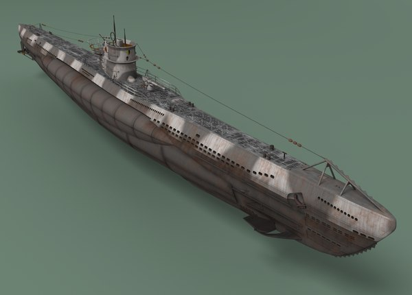 ww2 german u-boat viic 3d model