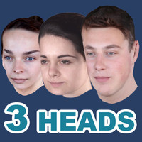 Low poly heads