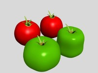 3d model of tomato vegetable