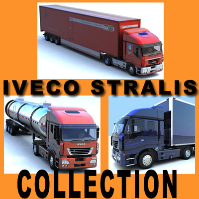 3d iveco stralis cistern truck model