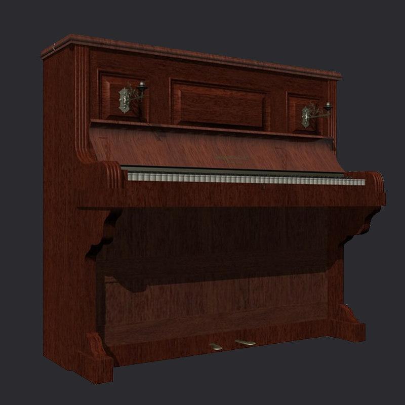 chappel upright piano 3d model