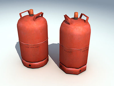 gas bottle 3d model
