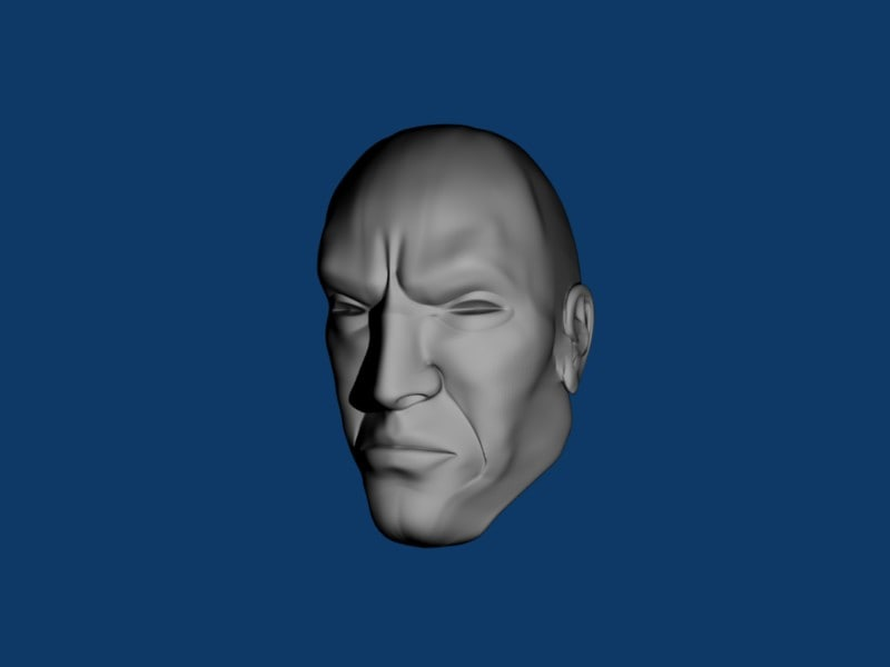 3d head face