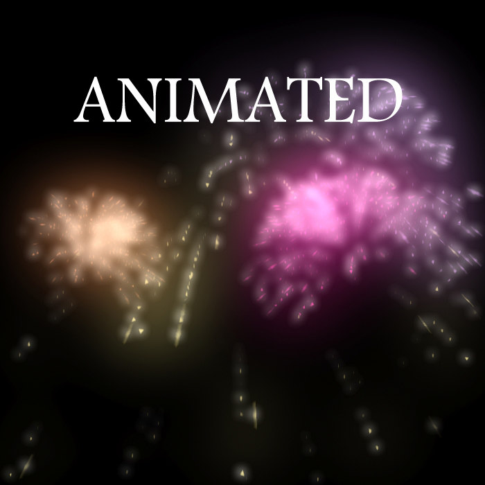 firework animation 3d model