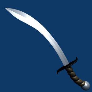 3d model arabian sword
