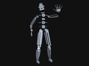 human ik rig 3d model