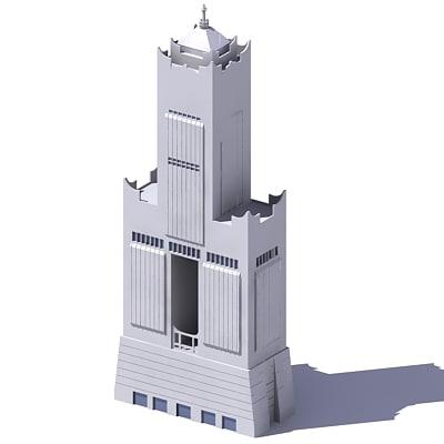 3d model tuntex 85 sky tower