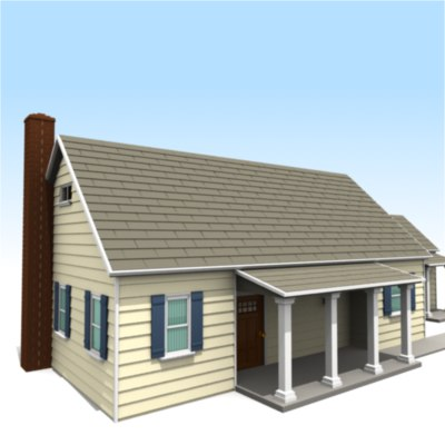 house mailbox sidewalk 3d model