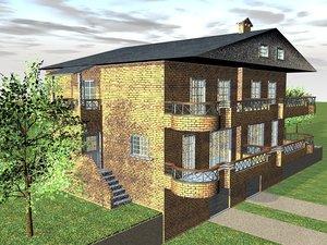house building c4d