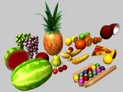 3d fruits apple model