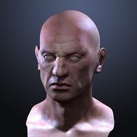 maya realistic male head