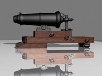 3ds carronade naval gun cannon