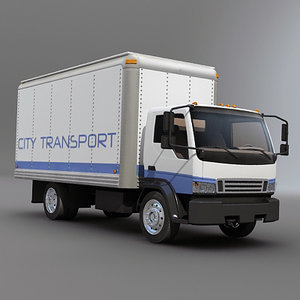 delivery box truck 3d model