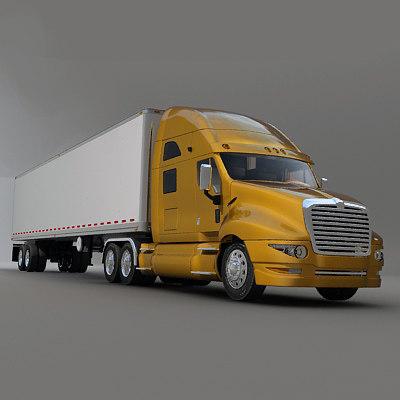 3ds semi truck trailer
