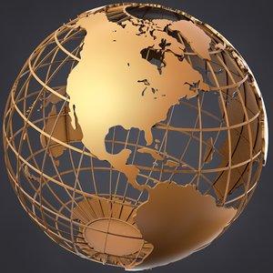 3d caged globe model