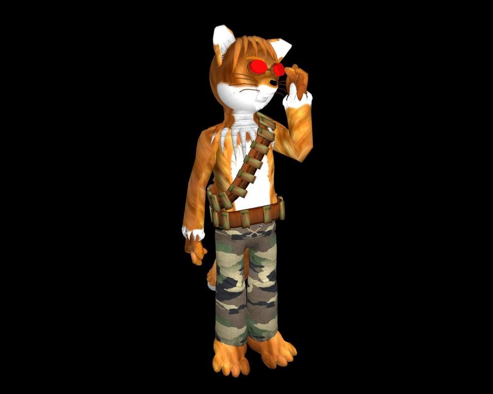 ma mercanary fox animation character