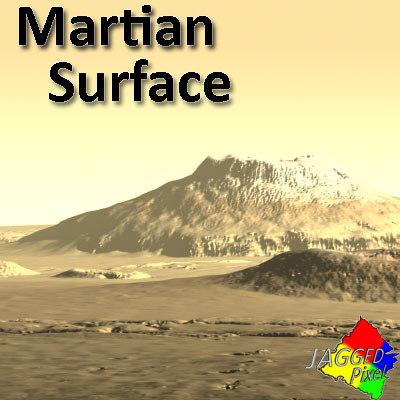 martian area mars terrain 3d model