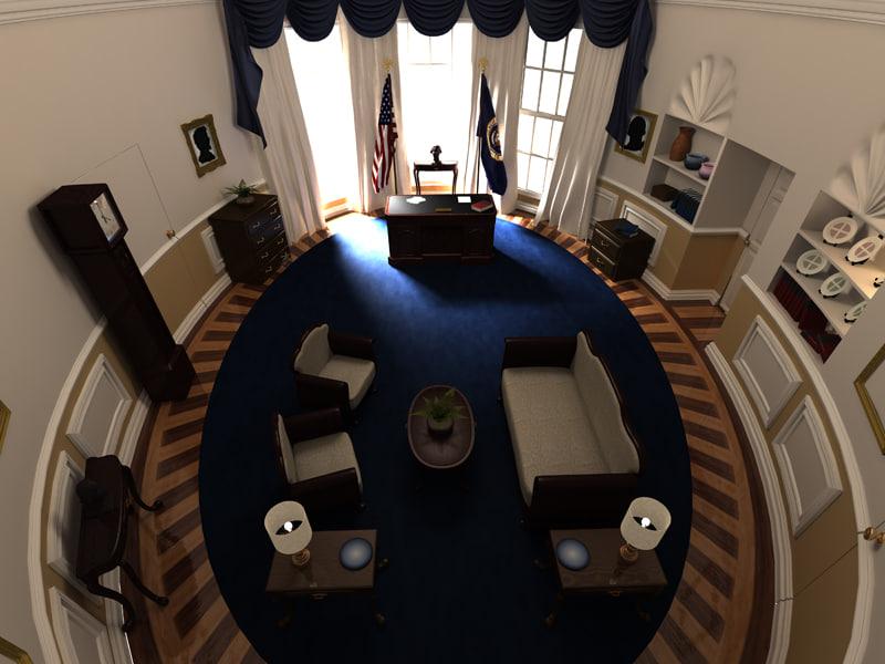 3d model oval office