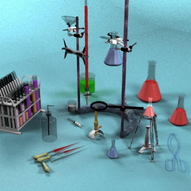 lab set 3d model
