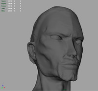 Samurai Head High Poly