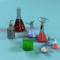 eulemeyer flasks beakers 3d model