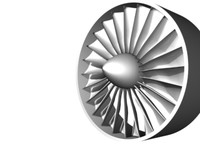 jet engine turbine detail