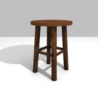 3d model of stool sit