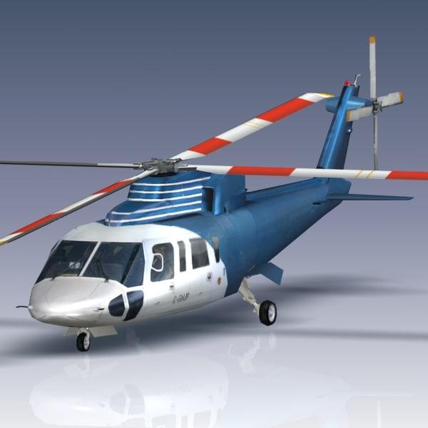 3d sikorsky helicopter model