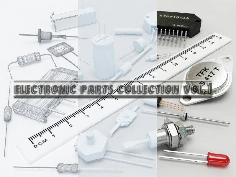 3d model electronic parts vol 1