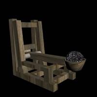 3d catapult modeled medieval