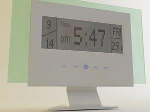 3ds max digital clock