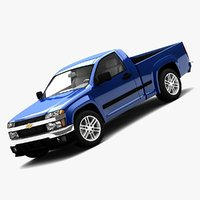 3d model chevrolet colorado regular cab