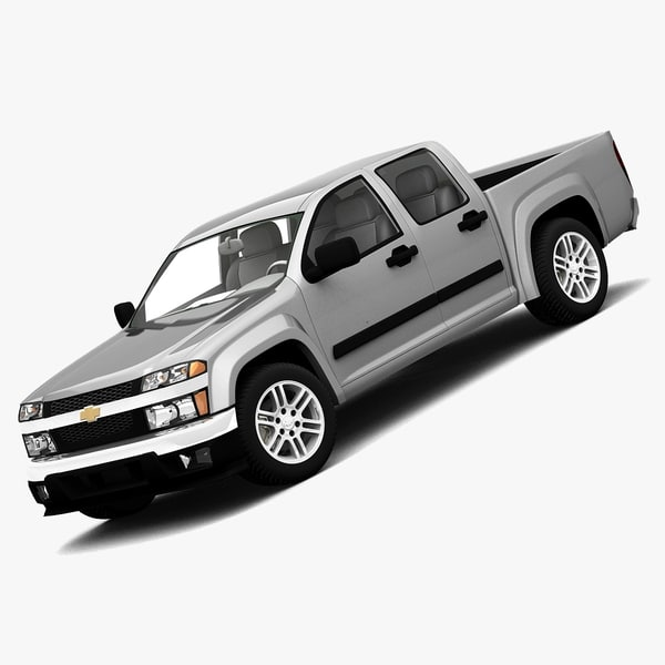 3d chevrolet colorado crew cab model