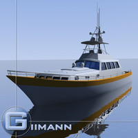 3d sportfishing boat model
