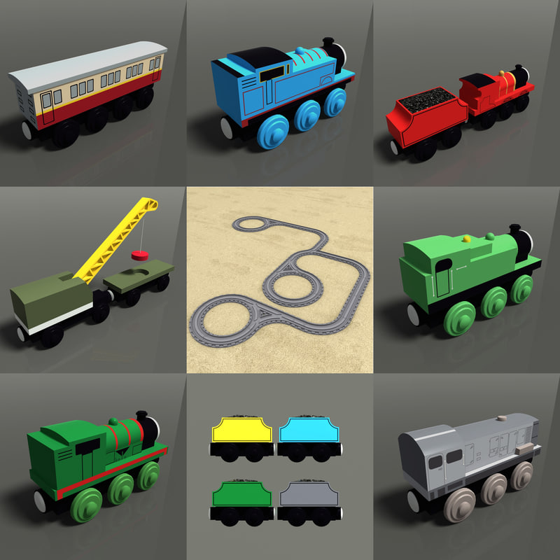toy train pack 04 3d model