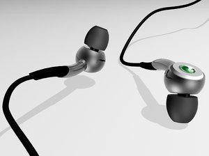 free se headphones 3d model