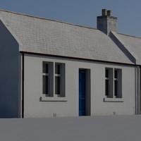 3d 3ds cottages building
