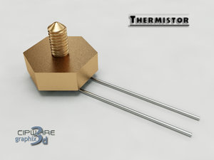 thermistor electronic parts 3d max
