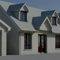 3d houses building